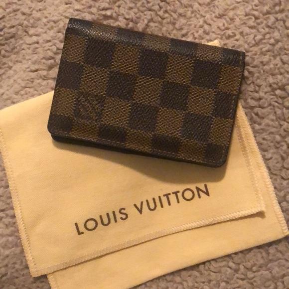6ef0b241f449 Louis Vuitton Other - Authentic Louis Vuitton Card Case Organizer Damier